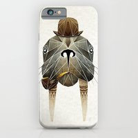 iPhone Cases featuring walrus by Manoou