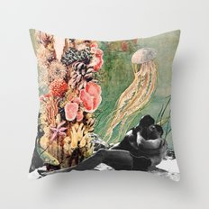 First Kiss Underwater Throw Pillow