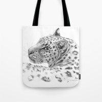 Leopard - Glance back Tote Bag