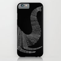 Elephant (On Black) iPhone 6 Slim Case