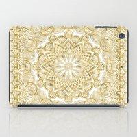 Orient Espresso Pattern Mandala Gold iPad Case