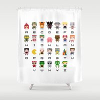 Video Games Pixel Alphab… Shower Curtain