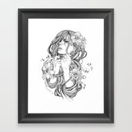 Framed Art Print featuring From A Tangled Dream by Wendy Ortiz