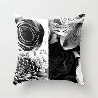 Delicate Flower Abstract Throw Pillow