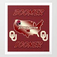 #BOOMER #SOONER Art Print