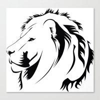 Lionhead Tribiales Canvas Print