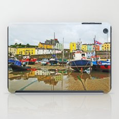 Tenby Harbour Reflection.Wales. iPad Case
