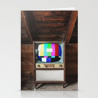 Test Pattern Television Stationery Cards