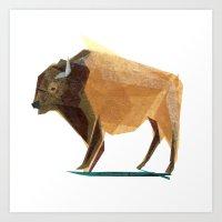 Jasper Buffalo Art Print