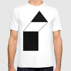 haus 1 SMALL Mens Fitted Tee White