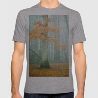 Autumn Woods Mens Fitted Tee Athletic Grey SMALL
