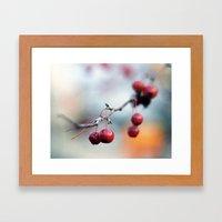 Fall Berries Framed Art Print