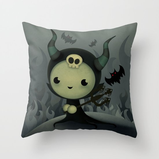Malefica Throw Pillow