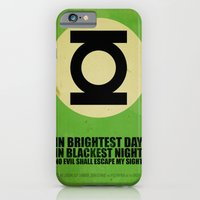 iPhone & iPod Case featuring Green Lantern (Super Minimalist series) by Itomi Bhaa