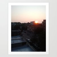 Brooklyn at 7:45pm Art Print
