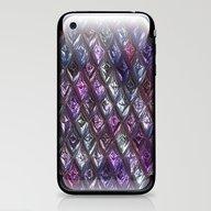 Sparkling Rhombs, Lilac iPhone & iPod Skin