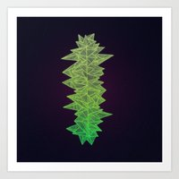 Green Monolith Art Print