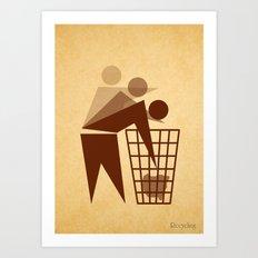 Recycling Art Print