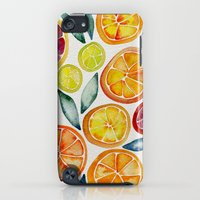 iPod Touch Cases featuring Sliced Citrus Watercolor by Cat Coquillette