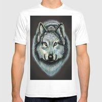 Lone Wolf Mens Fitted Tee White SMALL