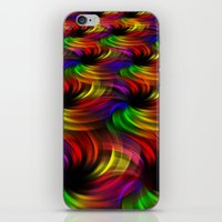 Rainbow Swirls iPhone & iPod Skin