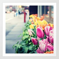 Upper East Side Tulips Art Print