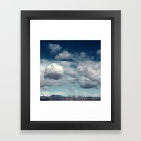 Clearly Cumulus Framed Art Print