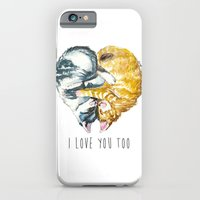 iPhone & iPod Case featuring Cats Love . Valentine's Day by Smog