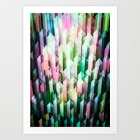 vivid quartz rising Art Print