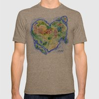 Island of Love Mens Fitted Tee Tri-Coffee SMALL