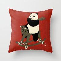 Keep Rolling Throw Pillow