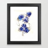Oiseaux Bleu Framed Art Print