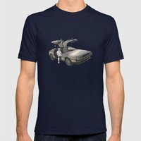 Stormtroooper In A DeLor… Mens Fitted Tee Navy SMALL