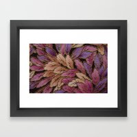 Coloured Leaves Framed Art Print