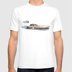 X-34 Landspeeder White SMALL Mens Fitted Tee