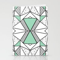 Ab Lines And Spots Mint Stationery Cards