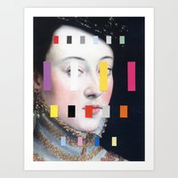 Art Print featuring Portrait With A Spectrum 4 by Chad Wys