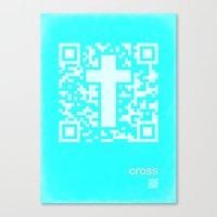 QR Cross Canvas Print
