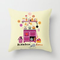 Kitchen Love Throw Pillow