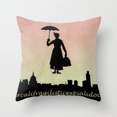 mary poppins Throw Pillow