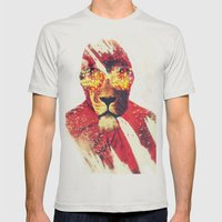 Lion Zion Mens Fitted Tee Silver SMALL