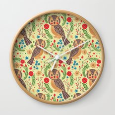 The Vintage Horned Owl Wall Clock