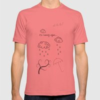 Raining Mens Fitted Tee Pomegranate SMALL