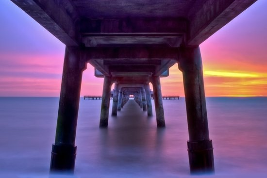 Deal Pier at Sunrise Art Print