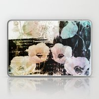 poppies on abstract background Laptop & iPad Skin