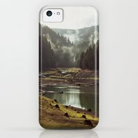iPhone 5c Cases featuring Foggy Forest Creek by Kevin Russ