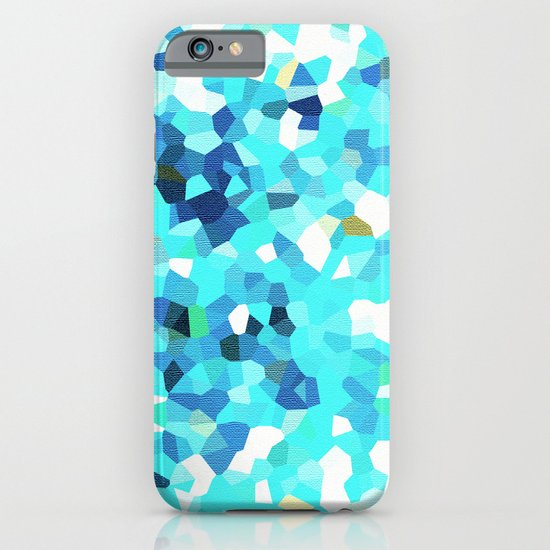 MOSAIC CYAN TEXTURE PATTERN - For IPhone - iPhone & iPod Case