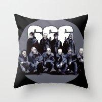 SQUAD 666: Bastard Sons of Satan Throw Pillow