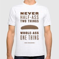 Whole-Ass One Thing Mens Fitted Tee Ash Grey SMALL