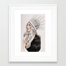 Silver Blonde Framed Art Print